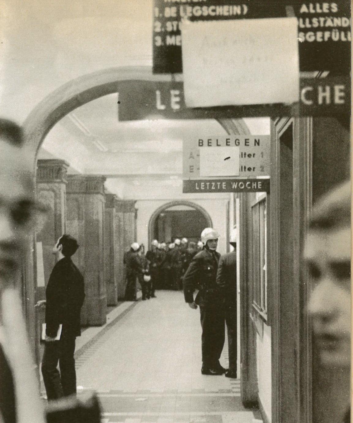15.05.1968: Blockade der Uni