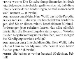 Protokolle und Materialien Frank Wolff