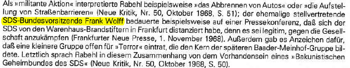 FNP 1.11.1968 Frank Wolff:Warenhaus-Brandstiftung