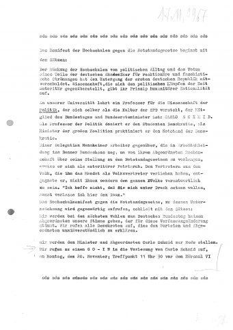 20.11.1967: Aktion Carlo Schmid