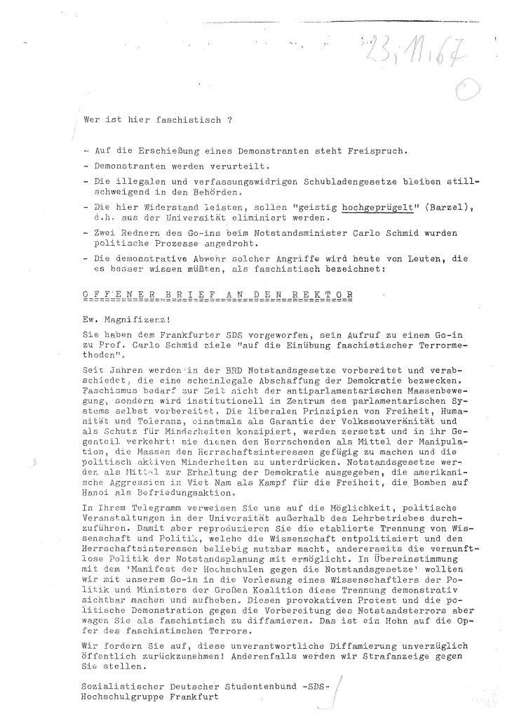 Carlo Schmid SDS Studentenbewegung