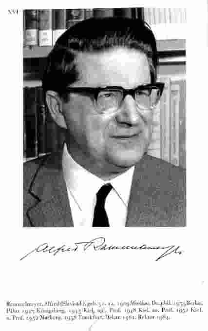 Professor Alfred Rammelmeyer Frankfurt